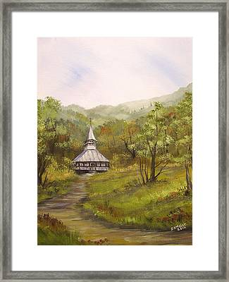 Wooden Church In Transylvania Framed Print