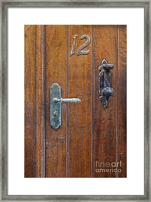 Framed Print featuring the photograph Wooden Door In Old San Juan by Bryan Mullennix