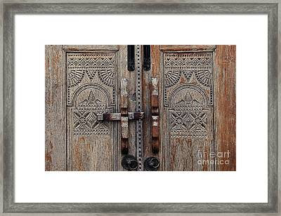 Wooden Door  Framed Print by Ivy Ho