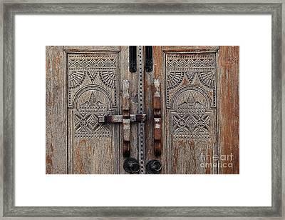 Wooden Door  Framed Print by Ivy Ho