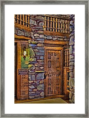 Wooden Door Framed Print by Susan Candelario