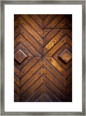 Wooden Doors Framed Print by Pati Photography