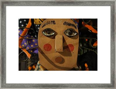Framed Print featuring the photograph Wooden Face by Artistic Panda