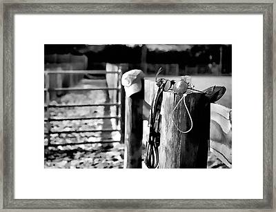 Framed Print featuring the photograph Wooden Fence by Pamela Blizzard