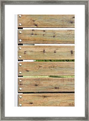 Wooden Fence Framed Print by Tom Gowanlock
