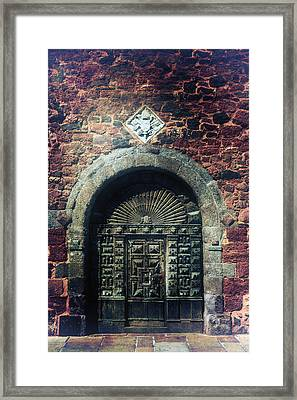 Wooden Gate Framed Print