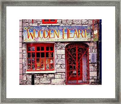 Framed Print featuring the photograph Wooden Heart by Ranjini Kandasamy