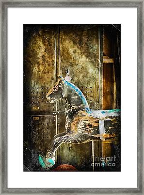 Wooden Horse Framed Print by Colleen Kammerer