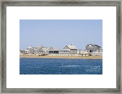Wooden Houses On Cape Cod Framed Print by Patricia Hofmeester