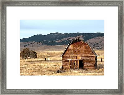 Wooden Hut In The Countryside Of Framed Print by Feifei Cui-paoluzzo