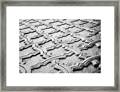 Wooden Islamic Carving Framed Print