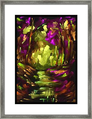 Wooden Light - Scratch Art Series - # 10 Framed Print by Steven Lebron Langston