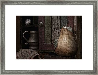 Wooden Pear Still Life Framed Print by Tom Mc Nemar
