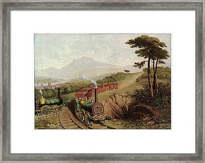 Wooden-railed Railway Framed Print by Cci Archives