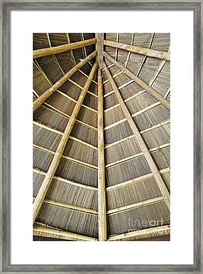 Wooden Roof Framed Print