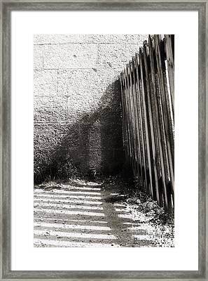 Framed Print featuring the photograph Wooden Shadow by Cendrine Marrouat