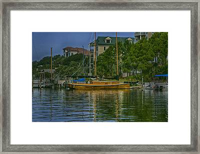 Wooden Ship Framed Print by Joel P Black