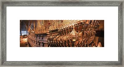Wooden Ship Vasa In A Museum, Vasa Framed Print by Panoramic Images