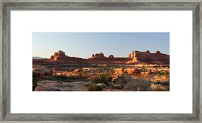 Wooden Shoe Arch In Canyonlands Np Framed Print