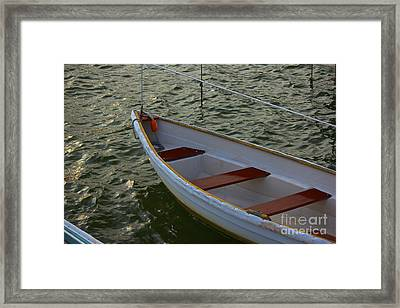 Wooden Skiff Framed Print by Amazing Jules