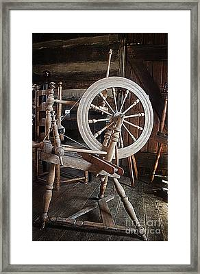Wooden Spinning Wheel Framed Print