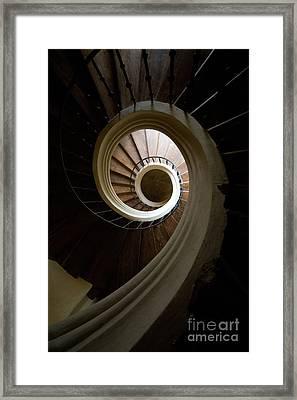 Wooden Spiral Framed Print