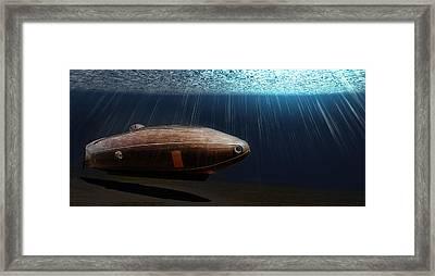 Wooden Submarine Ictineo II Lv Framed Print by Weston Westmoreland