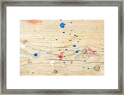 Wooden Surface Framed Print by Tom Gowanlock