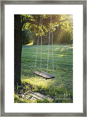 c3126eafa7 Wooden Vintage Garden Swing Framed Print by Anna-Mari West