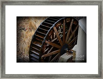 Wooden Water Wheel Framed Print by Paul Ward