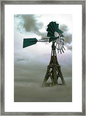 Wooden Windmill Framed Print