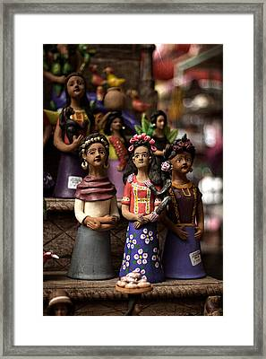 Framed Print featuring the photograph Wooden Women Of South America by Dave Garner