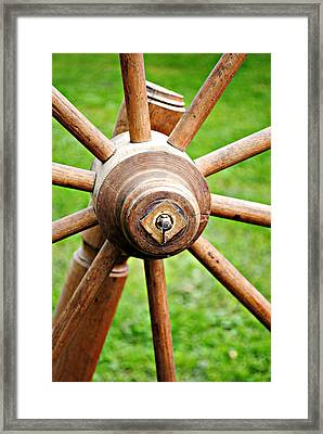 Woodenspoke Framed Print by Stephanie Grooms