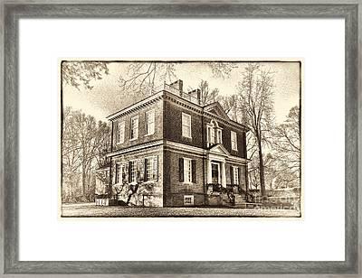 Woodford Mansion Framed Print by Olivier Le Queinec