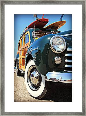 Woodie On The Wharf Framed Print