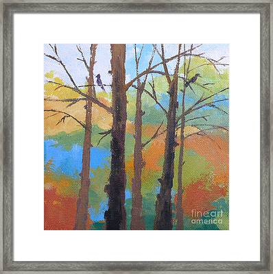 Woodland #4 Framed Print by Melody Cleary