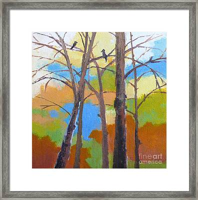 Woodland #5 Framed Print by Melody Cleary