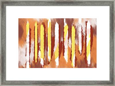 Woodland And Sunrise Framed Print by Condor