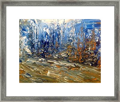 Woodland Blues And Browns Framed Print