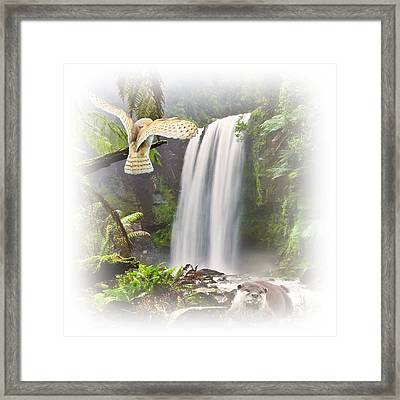 Woodland Falls Framed Print by Sharon Lisa Clarke
