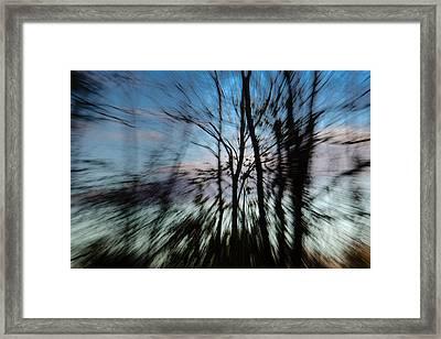 Woodland Flight Framed Print