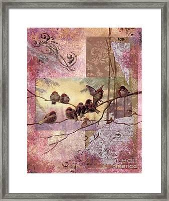 Woodland Flight Framed Print by Tamyra Crossley