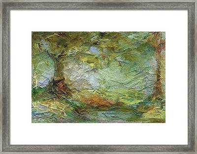Woodland Impressions Framed Print by Mary Wolf