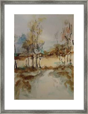 Woodland Landscape Framed Print by Katie Spicuzza