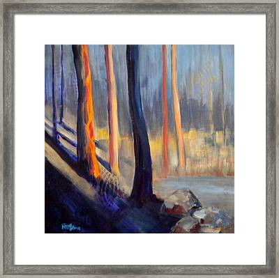 Woodland Patterns Framed Print by Sally Bullers