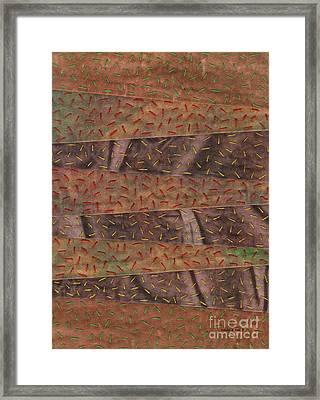 Woodland Quilt Block Framed Print by David K Small