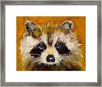 Woodland Racoon Framed Print