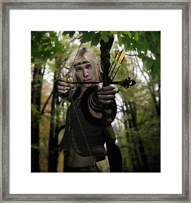 Woodland Realm Framed Print