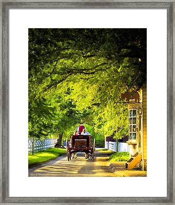 Woodland Ride - Colonial Williamsburg Framed Print by Mark E Tisdale
