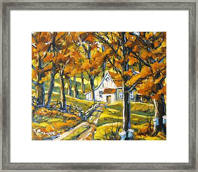 Woodland Sugar Shack By Prankearts Framed Print